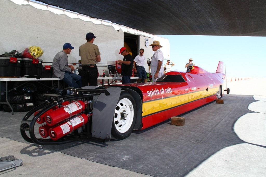 Nearburg car in pits