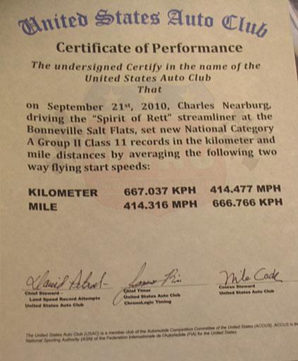 USAC Certificate